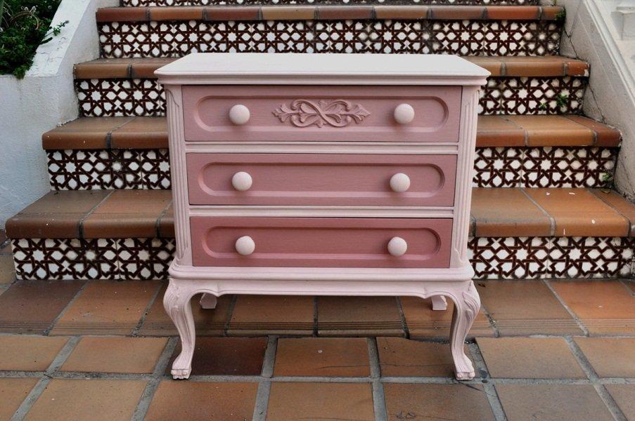Fotos de muebles pintados con chalk paint tienda online chalk paint - Muebles pintados en plata ...