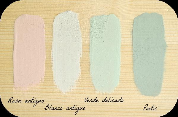 Combinar colores con la chalk paint for Blanco tiza pintura