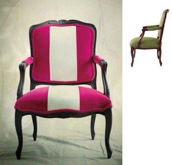 Algunas fotos de sillones pintados bricolaje - Tunear muebles viejos ...
