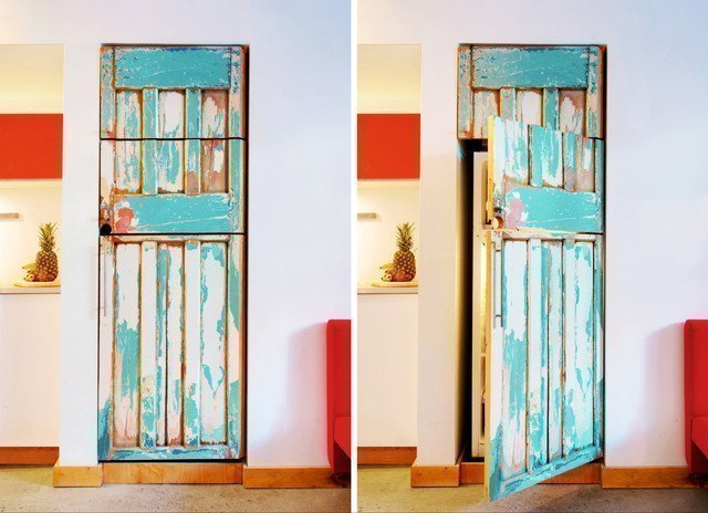 Reciclar muebles decorar con puertas o ventanas for Reciclar puertas antiguas