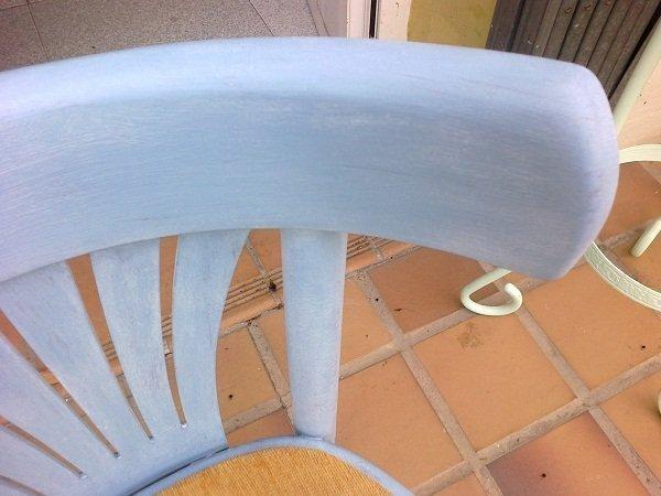 Pintar tela y una silla vieja con chalk paint - Sillas para pintar ...
