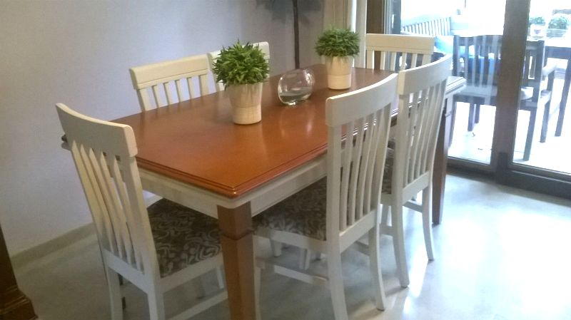 Chalk paint mesa barnizada tienda online chalk paint for Mesas de comedor restauradas